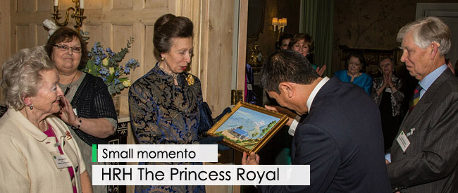 CBTSUK presents a small memento to HRH The Princess Royal
