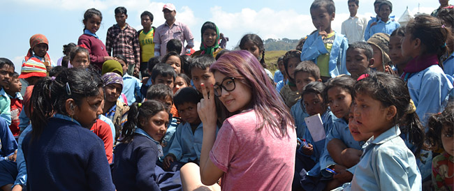 CBTS UK Youth with students of Char Bhanjyang